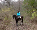 jane on a trail ride